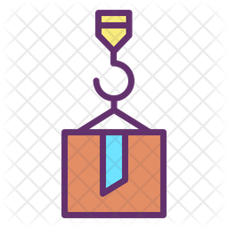Container Delivery Colored Outline Icon