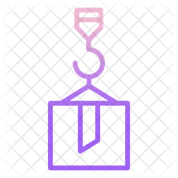 Container Delivery Gradient Icon