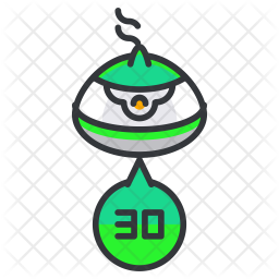 Container number Colored Outline Icon