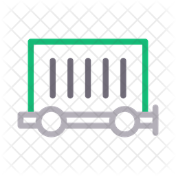 Container Truck Line Icon