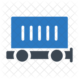 Container Truck Flat Icon