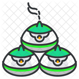 Containers Colored Outline Icon
