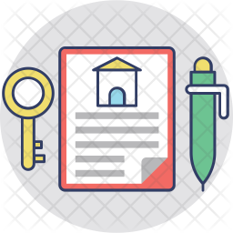 Contract Colored Outline Icon