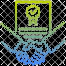 Contract Gradient Icon