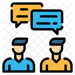Conversation Icon Of Colored Outline Style Available In Svg Png Eps Ai Icon Fonts