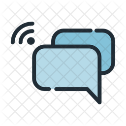 Conversation Colored Outline Icon
