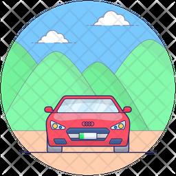 Convertible Sports Car Icon