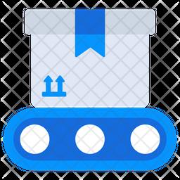 Conveyor Belt Flat Icon