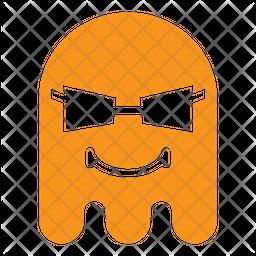 Cool Flat  Emoji Icon