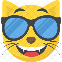 Cool Cat Emoji Icon