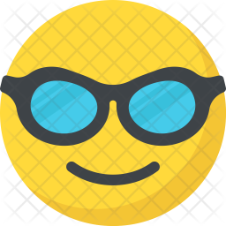 Cool Smiley Flat Icon