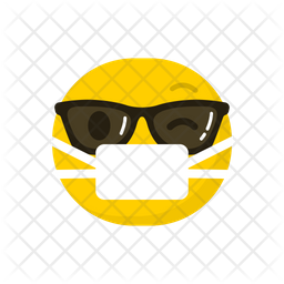 Cool With Face Mask Emoji Icon