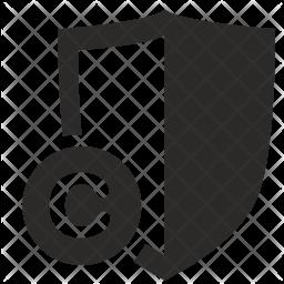 Copyright shield Icon