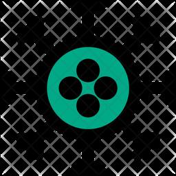 Corona Virus Colored Outline Icon