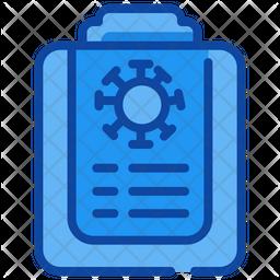Corona Virus Report Icon