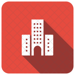Corporate Office Glyph Icon