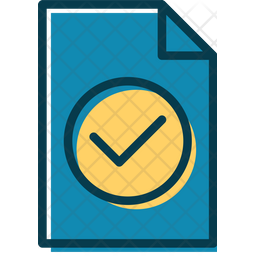 Correct Document Colored Outline Icon