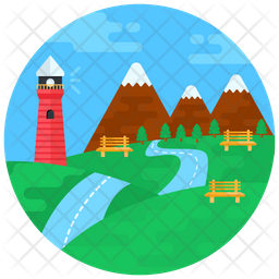 Countryside Flat Icon