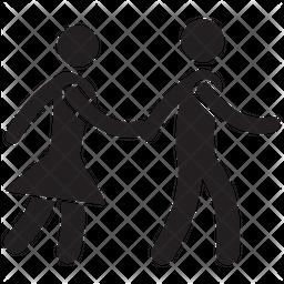 Couple Glyph Icon