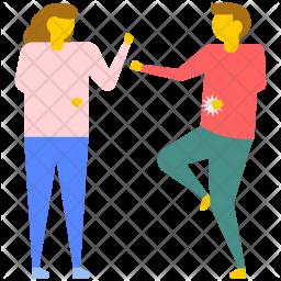 Couple Fighting Icon