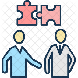 Couple Of Jigsaw Icon