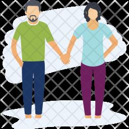 Couple Walking Icon