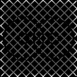 Covalent Bond Line Icon