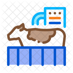 Cow Check Colored Outline Icon