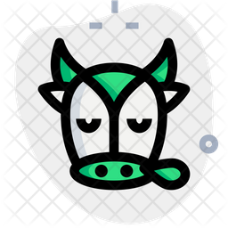 Cow Snoring Colored Outline  Emoji Icon