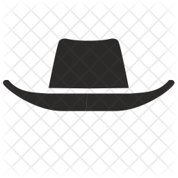 Cowboy Hat Icon Of Glyph Style Available In Svg Png Eps Ai Icon Fonts