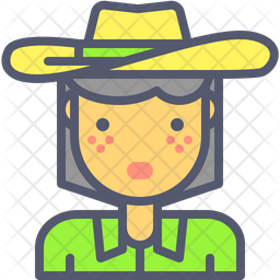 Cowgirl Icon Of Colored Outline Style Available In Svg Png Eps Ai Icon Fonts
