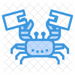 Crab Stuck In Plastic Colored Outline Icon