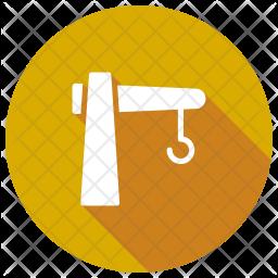 Crane Glyph Icon
