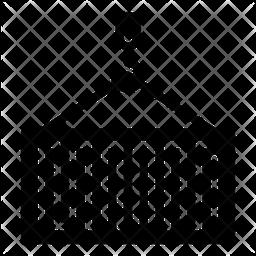 Crane Container Glyph Icon