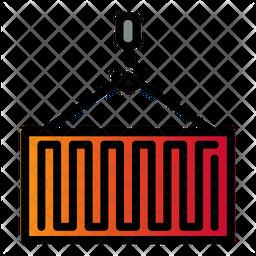 Crane Container Colored Outline Icon