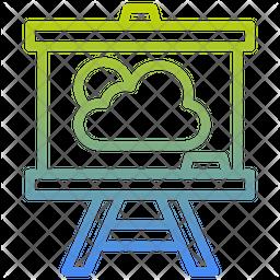Crayon Chalks Gradient Icon