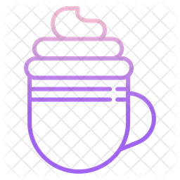 Cream Coffee Gradient Icon