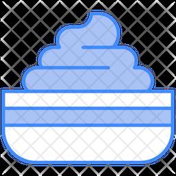 Cream Container Dualtone Icon