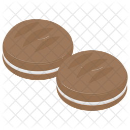 Cream Cookies Icon