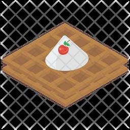 Cream Waffle Icon