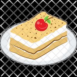 Creamy Pastry Platter Icon