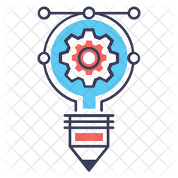 Creative Process Colored Outline Icon