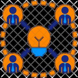 Creative Team Flat Icon