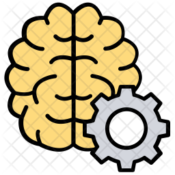 Creative Thinking Colored Outline Icon