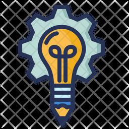 Creativity Idea Colored Outline Icon