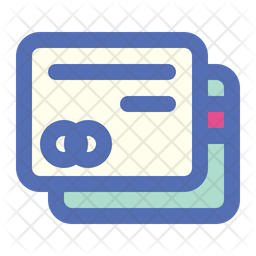 Credit Card Colored Outline Icon