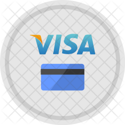 Credit, Card, Round, Visa, Payment, Service, Available Icon