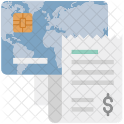 Credit Card With Bill Icon