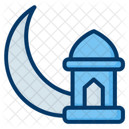 Crescent Moon Colored Outline Icon