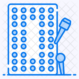 Cribbage Game Colored Outline Icon